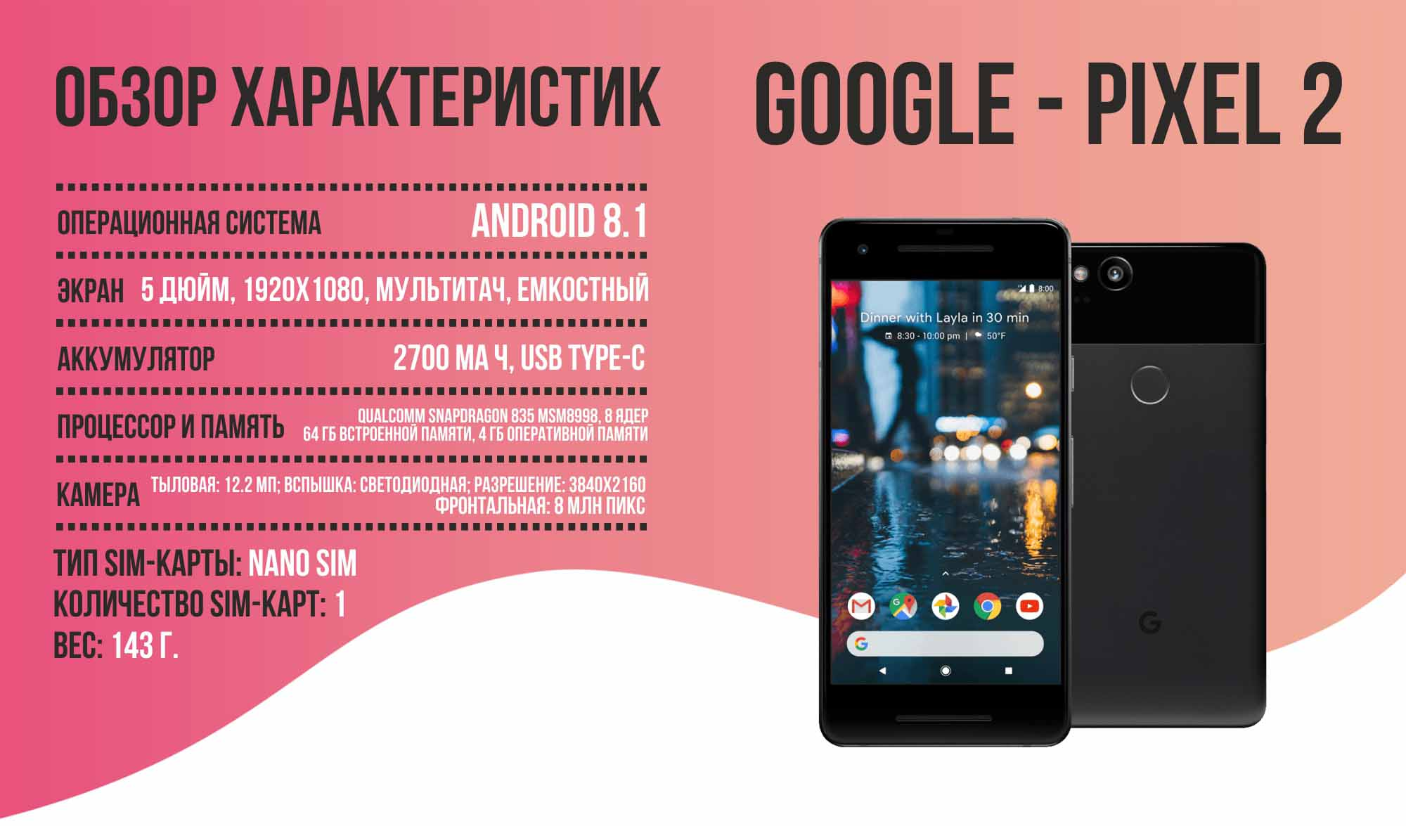 Google - Pixel 2 обзор